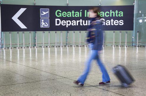 Departing Passenger at Dublin Airport